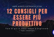 12 consigli per essere più produttivo